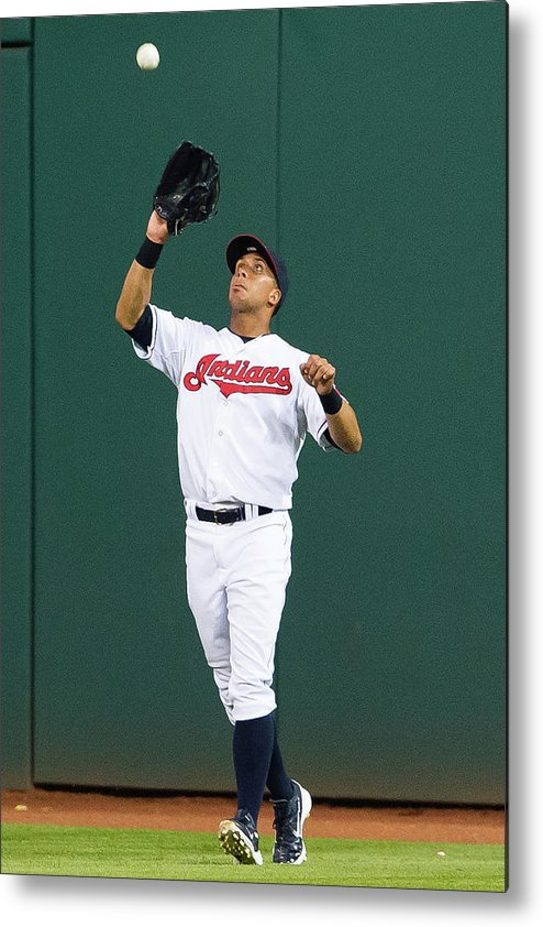 People Metal Print featuring the photograph Michael Brantley And Carlos Correa by Jason Miller