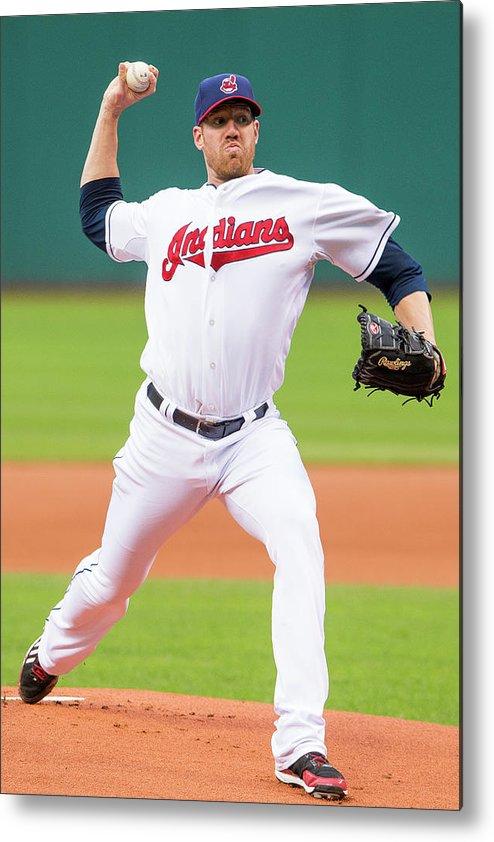 American League Baseball Metal Print featuring the photograph Zach Mcallister by Jason Miller