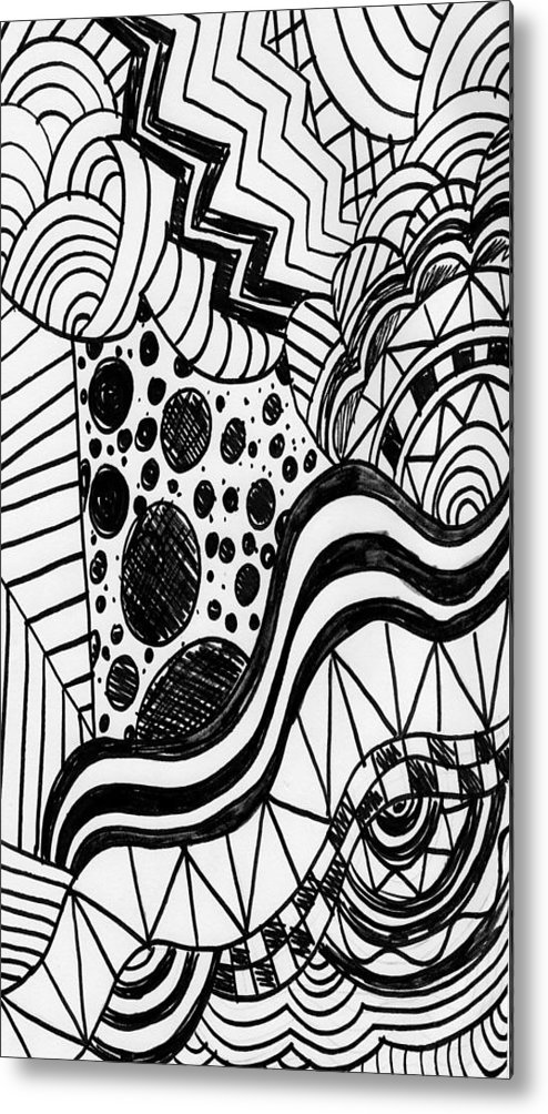 Zendoodle Designs Metal Print featuring the drawing Zendoodle Design by Alicia Counter