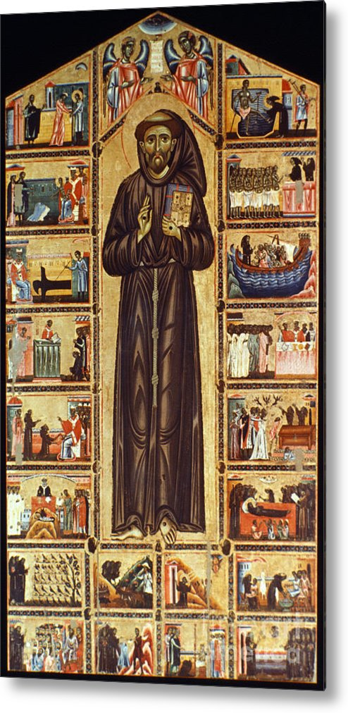 12th Century Metal Print featuring the painting St Francis Of Assisi by Granger