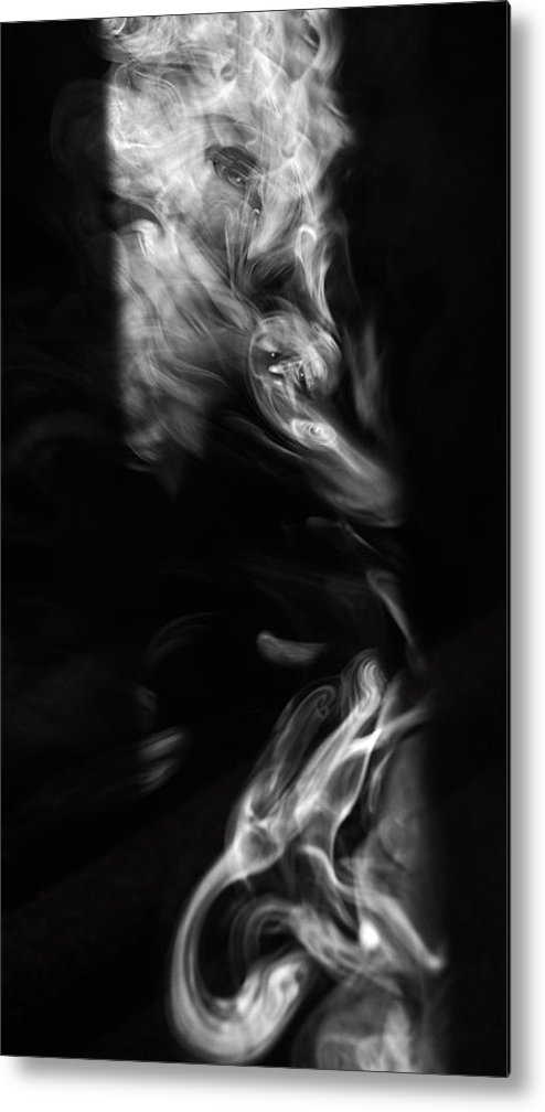 Smoke Metal Print featuring the photograph Faces In Smoke 1235 by Alfredo Martinez