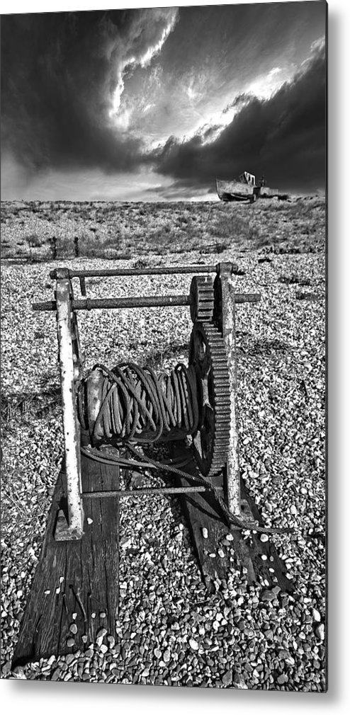 Winch Metal Print featuring the photograph Fishing Boat Graveyard 8 by Meirion Matthias