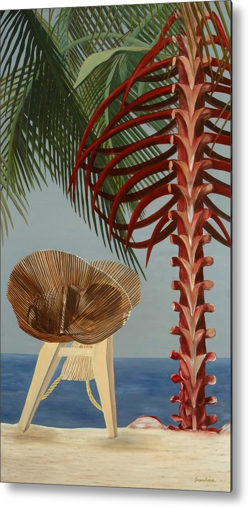 Beach Metal Print featuring the painting Rest In Peace by Sunhee Kim Jung
