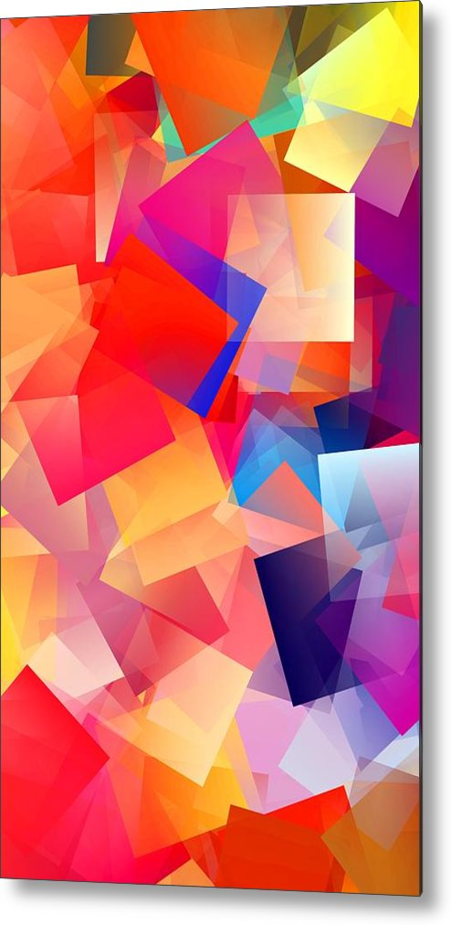 Simple Cubism Abstract 36 Metal Print