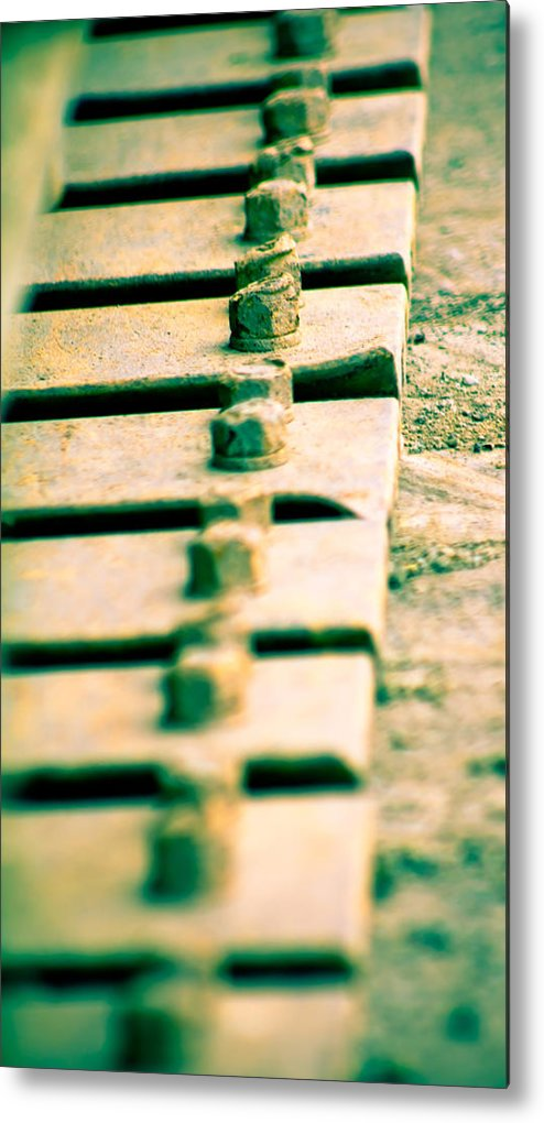 Bolts Metal Print featuring the photograph Tracks by Kim Vetten