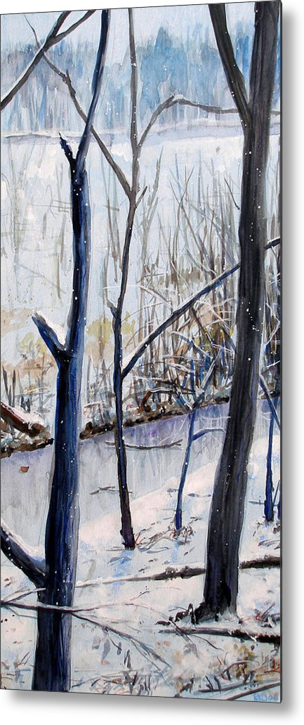Woods Metal Print featuring the painting Fairfax Winter by Ken Meyer