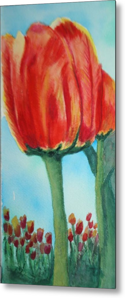 Tulips Metal Print featuring the painting Standing Tall by Betty-Anne McDonald