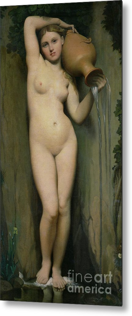 Nude Metal Print featuring the painting The Source by Ingres