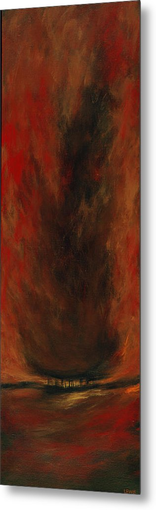 Red Metal Print featuring the painting Consume by Ellen Lewis