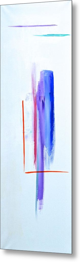 Blue Metal Print featuring the painting Evolve by Tracey Myers
