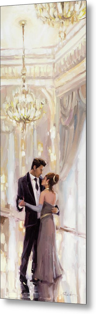 Romance Metal Print featuring the painting Just The Two Of Us by Steve Henderson