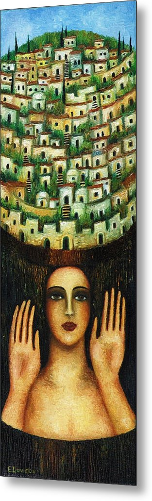 Image Metal Print featuring the painting Old City No 1. by Evgenia Davidov