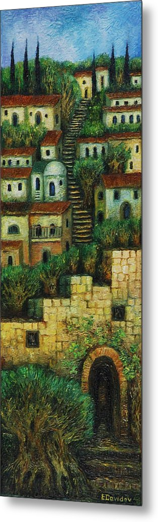 Image Metal Print featuring the painting Old City No 2. by Evgenia Davidov