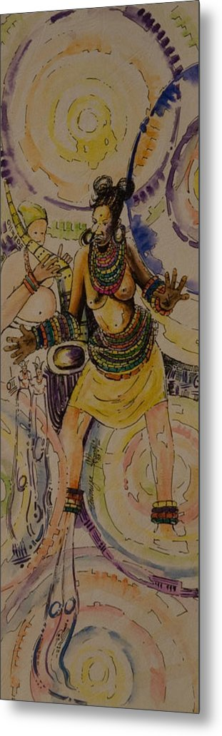 Metal Print featuring the painting Royal Entry by Alfred Awonuga