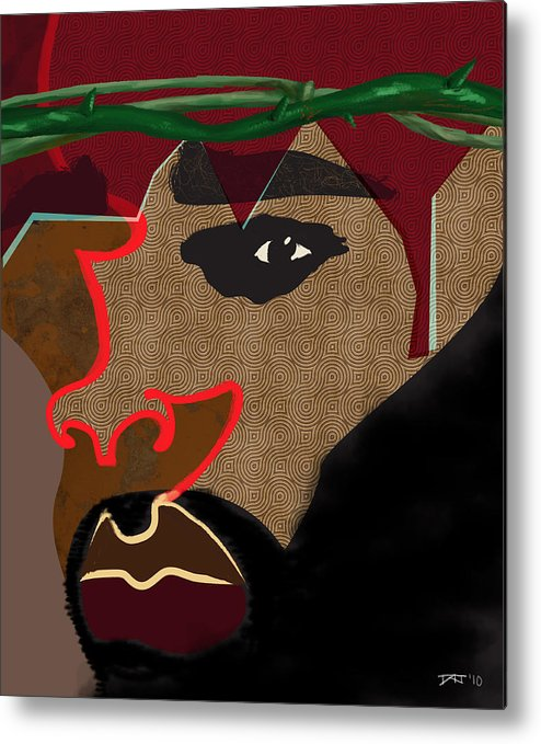 Jesus Metal Print featuring the digital art A Man With A Crown by David James