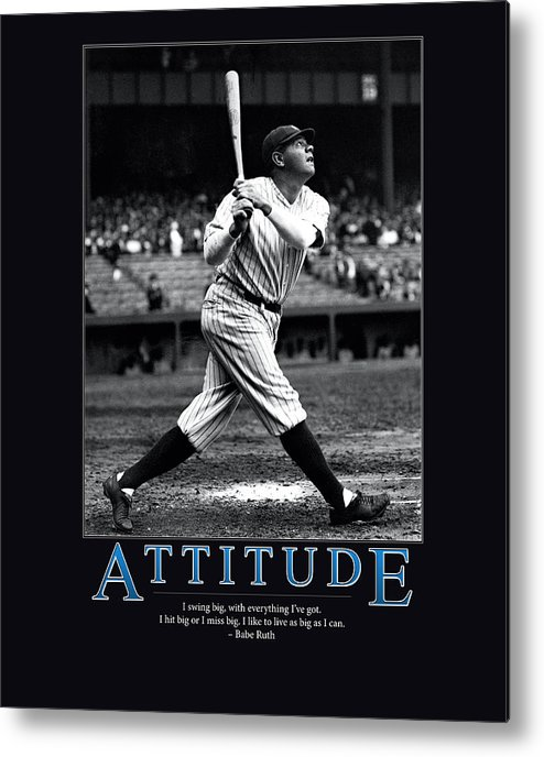 Mlb Metal Print featuring the photograph Babe Ruth Attitude by Retro Images Archive