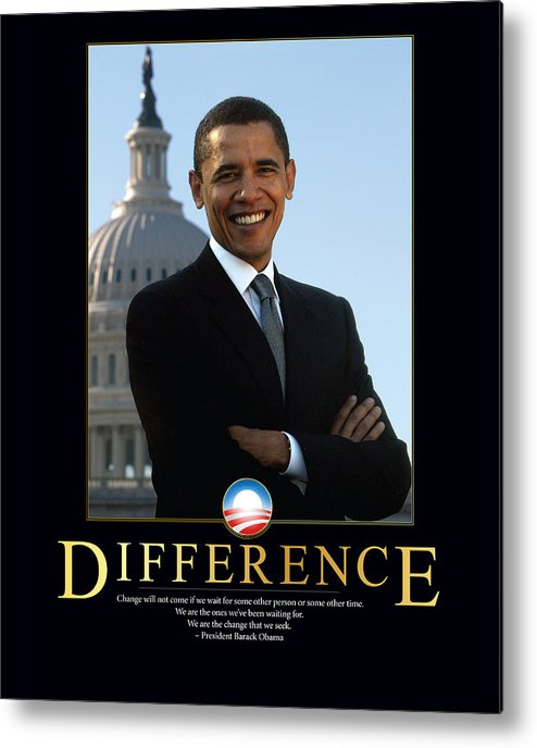 Barack Obama Metal Print featuring the photograph Barack Obama Difference by Retro Images Archive