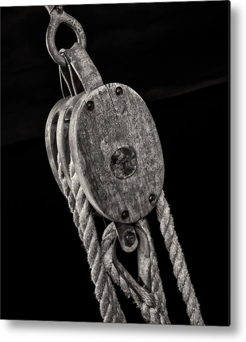 Block And Tackle Metal Print featuring the photograph Block And Tackle by Fred LeBlanc