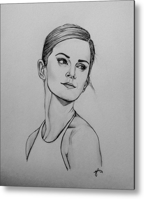 Emma Metal Print featuring the photograph Emma Watson by Jeszy Arnold