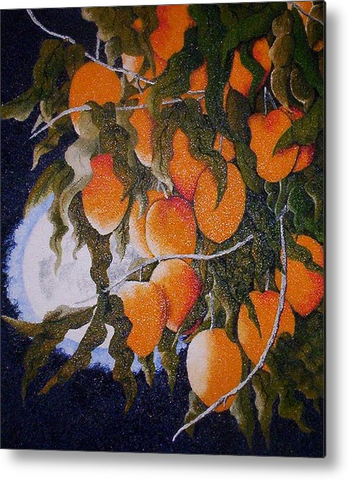 Metal Print featuring the painting Exotic Harvest by Maria Flores Ferreris