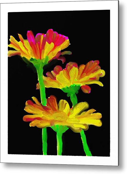 Flowers Metal Print featuring the digital art Flowers Quick Strokes by Ck Gandhi