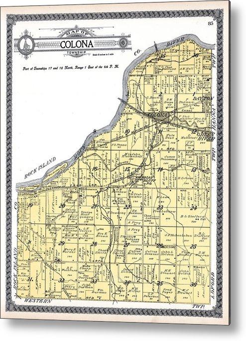 Illinois 1911 Colona Township Dayton Green River Briar Bluff