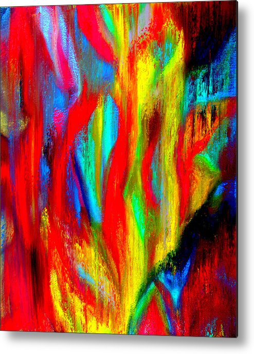 Abstract Metal Print featuring the painting Inspire Experiment by Stan Hamilton