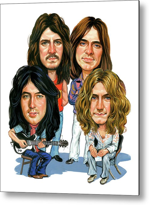 Led Zeppelin Metal Print featuring the painting Led Zeppelin by Art
