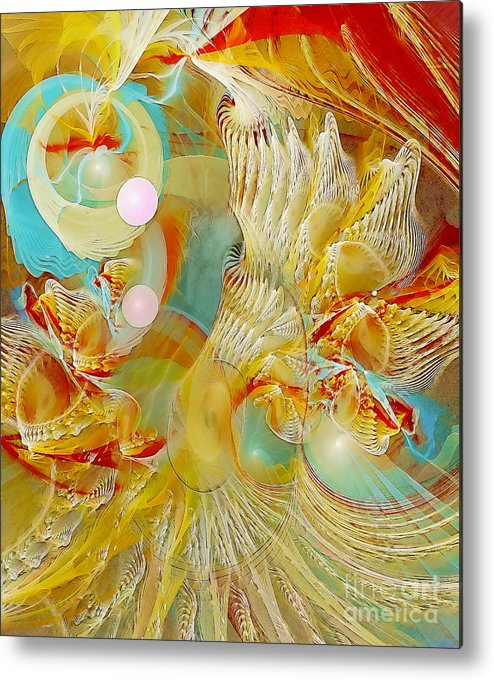 Fractal Metal Print featuring the digital art Our Souls Expand by Gayle Odsather