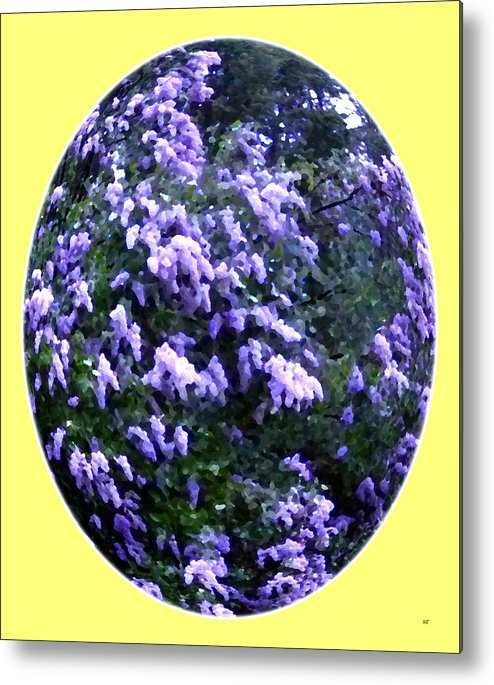 Painted Lilacs Metal Print featuring the digital art Painted Lilacs by Will Borden