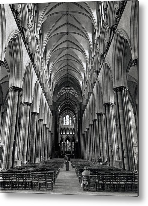 Salisbury Metal Print featuring the photograph Salisbury Cathedral by Michael Anderson