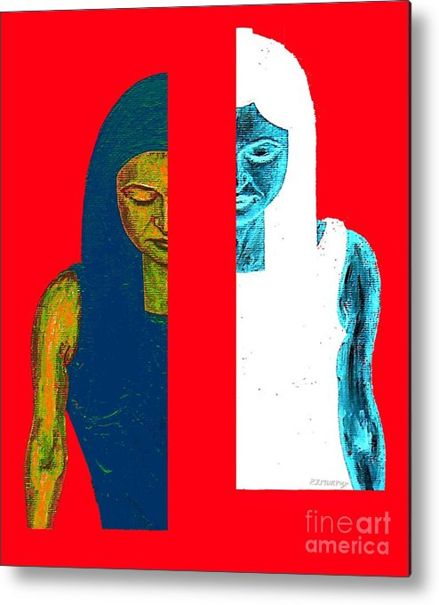 Psychology Metal Print featuring the painting Split Personality by Patrick J Murphy