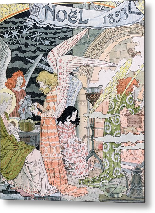 Angels Metal Print featuring the painting The Angels Kitchen by Eugene Grasset
