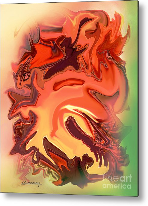 Dragon Metal Print featuring the painting The Chinese Dragon by Christian Simonian
