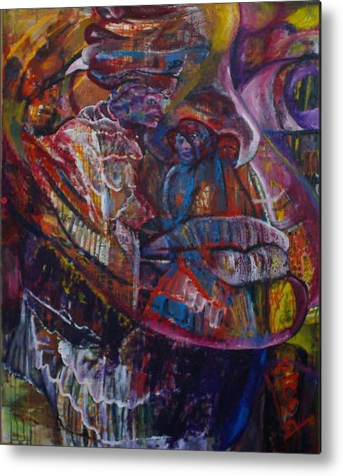 African Women Metal Print featuring the painting Tikor Woman by Peggy Blood