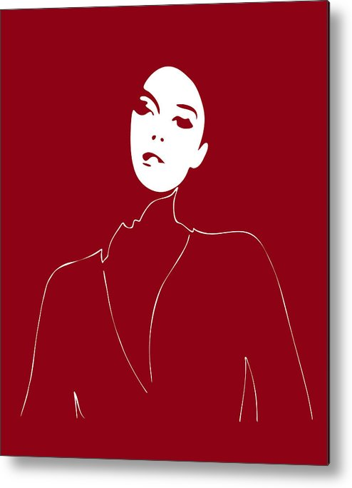 Fashion Metal Print featuring the painting Illustration Of A Woman In Fashion by Frank Tschakert