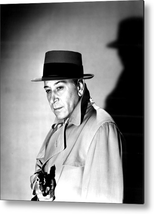 1950s Movies Metal Print featuring the photograph A Bullet For Joey, George Raft, 1955 by Everett