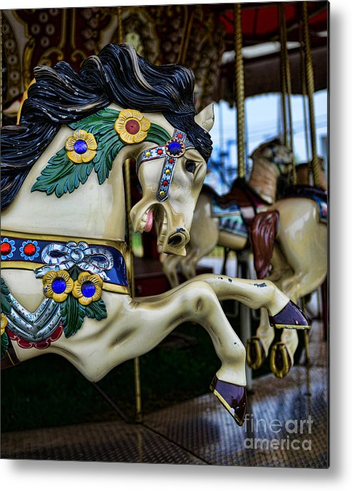 Carousel Metal Print featuring the photograph Carousel Horse 5 by Paul Ward