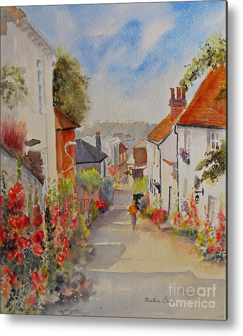 Church Hill Metal Print featuring the painting Church Hill - Hythe- Uk by Beatrice Cloake