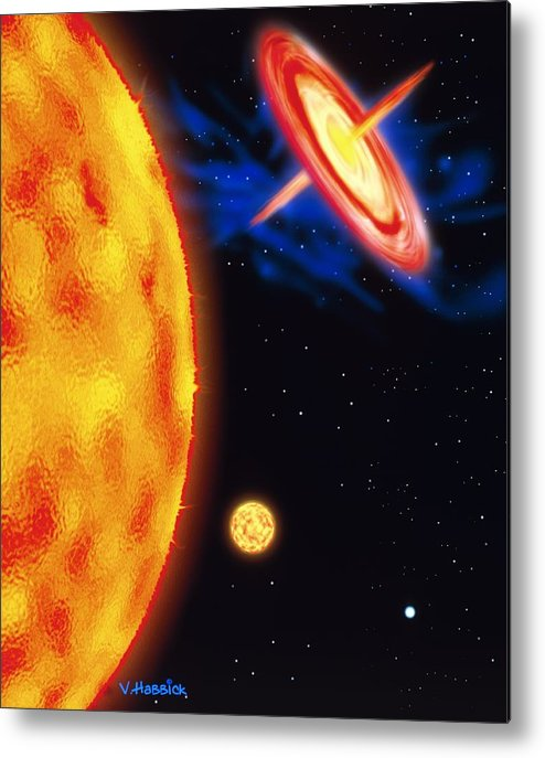 Star Evolution Metal Print featuring the photograph Computer Artwork Of Stages In A Star's Life by Victor Habbick Visions