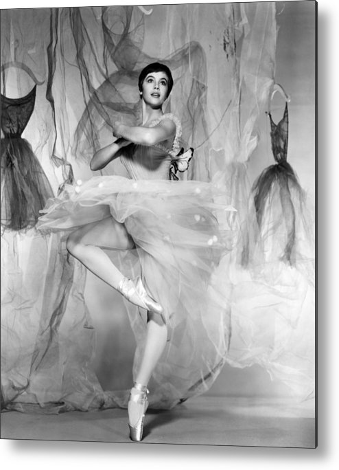 1950s Portraits Metal Print featuring the photograph Daddy Long Legs, Leslie Caron, 1955 by Everett