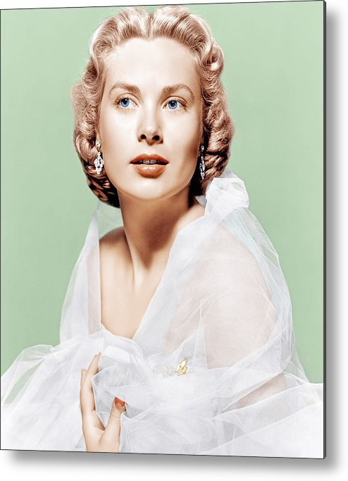 1950s Portraits Metal Print featuring the photograph Dial M For Murder, Grace Kelly, 1954 by Everett
