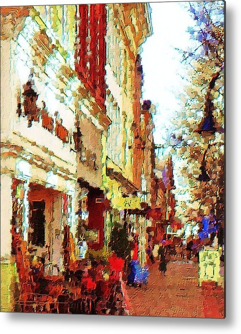 City Art Metal Print featuring the photograph Down Town by Diana Chason