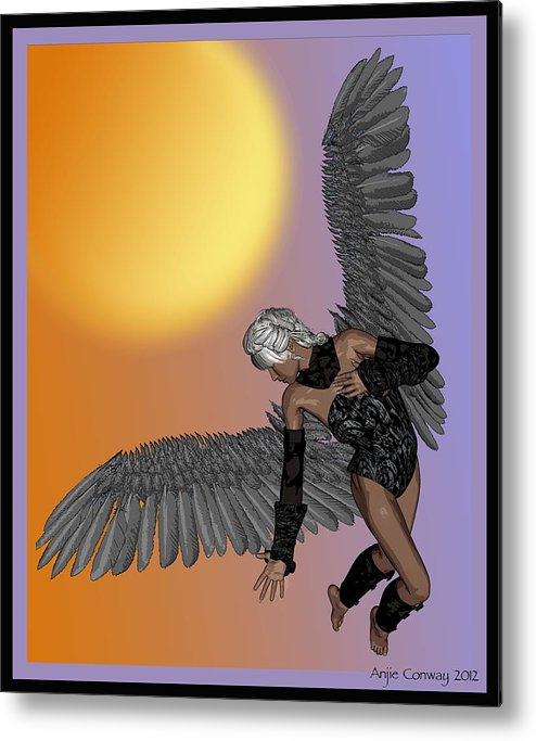 Angel Metal Print featuring the digital art From Above by Angela Conway