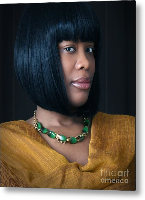 Jewelry Metal Print featuring the photograph Green And Gold by Eena Bo