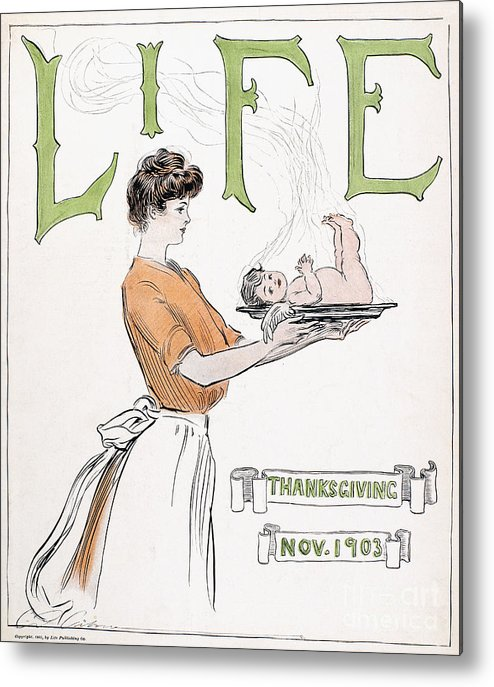 1903 Metal Print featuring the photograph Magazine: Life, 1903 by Granger