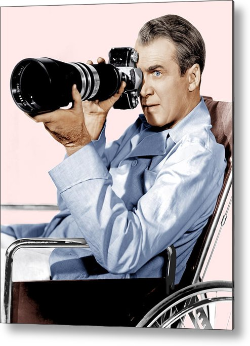 1950s Portraits Metal Print featuring the photograph Rear Window, James Stewart, 1954 by Everett