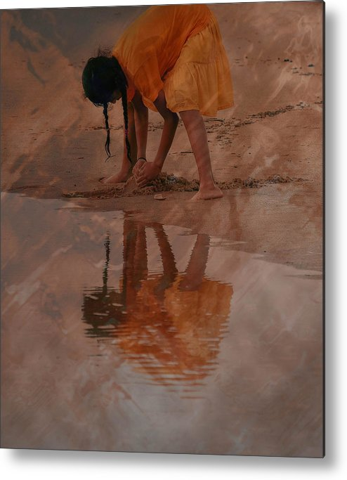 Sand Metal Print featuring the photograph Reflections Of India by Trish Tritz