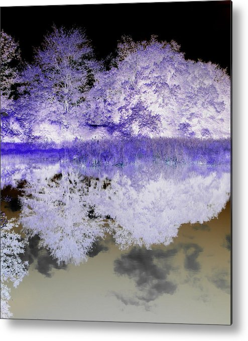 Abstract Photography Metal Print featuring the photograph Reflective Abstracts by Kim Galluzzo Wozniak