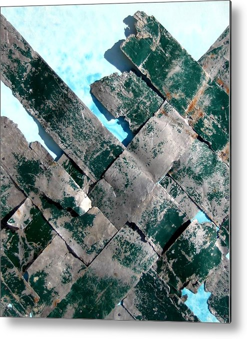 River Metal Print featuring the mixed media River By Twelve Panel 10 by Dodd Holsapple